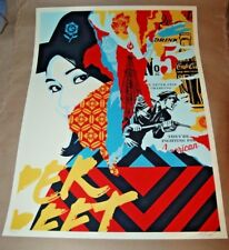Drink Crude Oil Shepard Fairey Poster Obey Giant Print Signed Numbered target