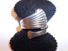 TUTTLE STERLING SILVER SPOON RING GRF GERALD RUDOLF FORD SIZE 6 1/4 WAS $150