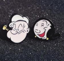 Popeye couple metal earring ear stud earrings studs cartoon unisex new