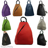 Giglio Italian Grain Leather Rucksack Backpack Shoulder Handbag Made In Italy
