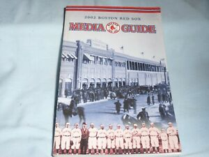 BOSTON RED SOX  2002 Media Guide YEARBOOK excellent condition
