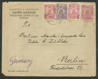 ROMANIA TO GERMANY TIMISOARA Cancel on Cover 1 Stamp w/defect
