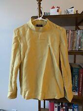 APC Linen Blend Mustard Top, Size 36