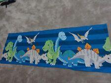 Dinosaur Dinosaurs monster blue grey orange remnant crafts fabric 130x40cm