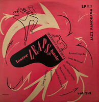 """VERY RARE JAZZ 10"""" LESTER YOUNG WITH COUNT BASIE LEAPS OG FR JAZZ PANORAMA VOL 2"""