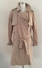 New Madewell Trench Coat Tan Beige Classic Icon Jacket Size M