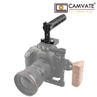 CAMVATE Top Handle Cheese Aluminum Alloy 1/4''-20 Mount Cold Shoe fr Camera Cage