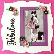 Handmade By Susie Luxury Pretty Lady's Fabulous Any Occasion Card Topper