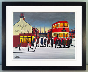 """JACK KAVANAGH """"GOING TO THE MATCH"""" EXETER CITY FRAMED PRINT"""