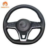 Top PU Black Artificial Leather Steering Wheel Cover for Nissan X-Trail Altima