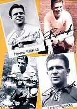 Ferenc PUSKAS (+) 4 SUPER - AK Bilder - Print Copies + AK Fußball WM signiert