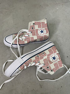 Converse White and Red Stitched Stripe US 6