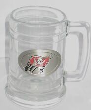Tampa Bay Bucaneers Glass Beer Stein NFL Football Embossed Logo Bucs Rare Gift