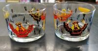 Fernet Branca Drinking Glass Dancing Alligators Set of 2