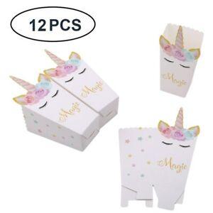 12 Unicornio Bolsas De Papel Para Dulces Cumpleaños De Niña Niñas Niños Fiesta