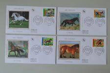 France lettres 1er jour 27 septembre 1998 chevaux 3182 à 3185