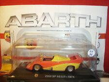 1/43 Abarth 2000 SP SE 027 Type 1974 + Brochure Hachette N 36