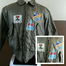 VTG 1990s MILITARY CWU-45/P PILOT FLYERS FLIGHT BOMBER JACKET with B1 Patches