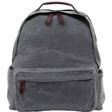 ONA - BOLTON STREET BACKPACK - WAXED CANVAS - SMOKE - W/ SLIK MINI 8 TRIPOD