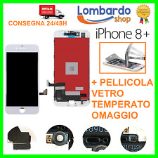 LCD PER APPLE IPHONE 8 + PLUS BIANCO DISPLAY ORIGINALE TIANMA TOUCH SCREEN FRAME