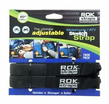 """ADJUSTABLE MOTORCYCLE ROK STRAPS, 18"""" to 60"""" LUGGAGE BUNGEE TWIN PACK"""