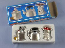 Americana KITCHEN Refrigerator MAGNETS Coffee Grinder - Tea Kettle - Scales NIB