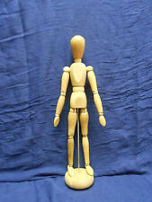 """ARTICULATED 13"""" WOOD JOINTED MAN ARTIST TOOL MODEL HUMAN FIGURE MANNEQUIN +STAND"""