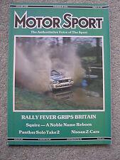 Motor Sport (Jan 1988) Nissan 300ZX,Sunny ZX, Citroen BX GTi, Audi Coupe Quattro