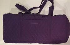 Vera Bradley Small Duffel Bag in Solid Elderberry Purple Microfiber 15246