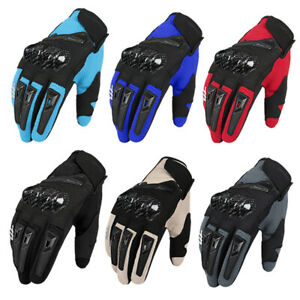 Touch Screen Motorcycle Gloves Durable Breathable Racing Motorbike Summer Gloves