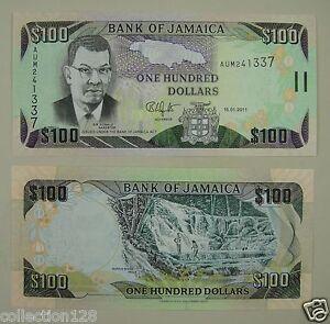 Jamaica Banknote 100 Dollars 2011 UNC