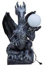 Tischleuchte Drachen Barock Lampen Tisch Leuchte Leuchten Lampen Figur Statue