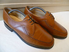 Vtg Loake Shoemaker full leather derby UK 8 42 tan brown Fontwell lace up *Wide