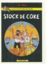 """RARE / CARTE POSTALE - TINTIN """"  COKE EN STOCK """" - BD HUMOUR / POSTCARD"""