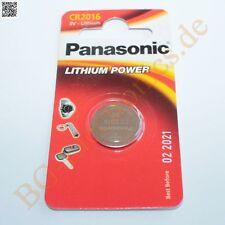 2 x CR2016 Lithium Power Batterie 3V Knopfzelle Cel Panasonic Knopfzelle 2pcs