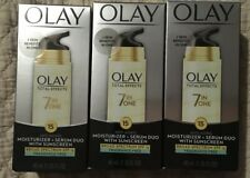 Lot Of 3 OLAY Total Effect Moisturizer + Serum Duo 7 in 1 SPF 15  1.35oz 01/2020