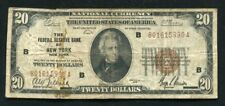 FR. 1870-B 1929 $20 FRBN FEDERAL RESERVE BANK NOTE NEW YORK, NY