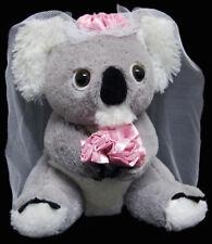 "BNWT - AUSTRALIAN WEDDING COUPLE ""KOALA  BRIDE & GROOM"" SOFT TOY 18cm/7.06inch"