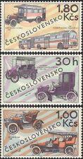 Czechoslovakia 1969 Veteran Cars/Buses/Transport/Motors/Motoring 3v set (n27921)