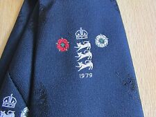 Barry WOOD Lancashire & England 1979 CRICKET Player Tie by Ernex