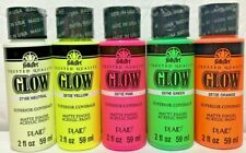 FolkArt Glow-In-The-Dark Acrylic Craft Paint (2 oz) Select Colors - Mix & Match