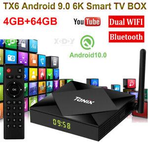 6K TX6s 4+64G Android 10.0 OS 5G WIFI BT TV BOX USB Media Player Allwinner H616