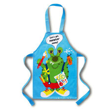 Kids Monster Apron Blue PVC by Cooksmart