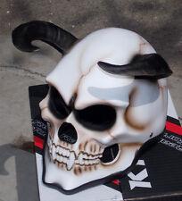Motorcycle Helmet Demon Devil Hells Goat Evil Horn Full face Horn Helmet
