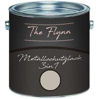 The Flynn Metallschutzlack 3-in-1 Kieselgrau RAL 7032 2,5L 5L 10L TOP! Grau