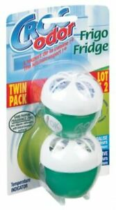 Croc Odor Fridge Deodoriser Fresh Neutralise, Temperature Indicator, Twin Pack