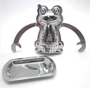 Frog Hanging Tea Infuser with Drip Tray