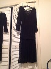 Marie St.Claire Black Beaded Cocktail/Evening Dress Size 8