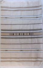 Fair Trade Blanket Throw Rug Bed Spread Hand Made In Morocco Soft Cotton Boho