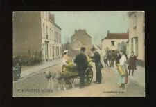 Belgium animals DOG CART Laitieres Belges Used 1911 La Verification du lait PPC